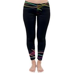 Colorful Light Frame Line Classic Winter Leggings