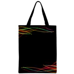 Colorful Light Frame Line Zipper Classic Tote Bag