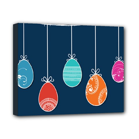 Easter Egg Balloon Pink Blue Red Orange Canvas 10  x 8