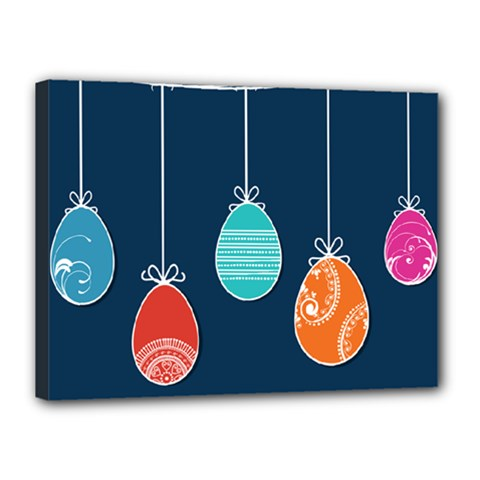 Easter Egg Balloon Pink Blue Red Orange Canvas 16  X 12