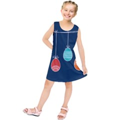 Easter Egg Balloon Pink Blue Red Orange Kids  Tunic Dress