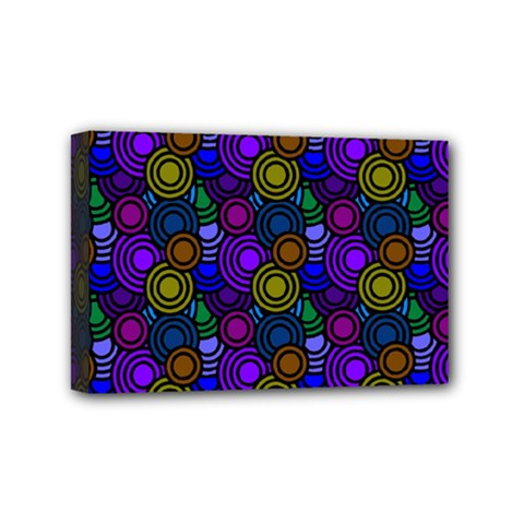 Circles Color Yellow Purple Blu Pink Orange Mini Canvas 6  x 4
