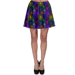 Circles Color Yellow Purple Blu Pink Orange Skater Skirt