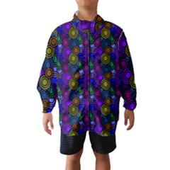 Circles Color Yellow Purple Blu Pink Orange Wind Breaker (Kids)
