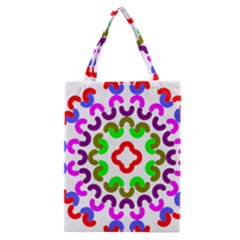 Decoration Red Blue Pink Purple Green Rainbow Classic Tote Bag
