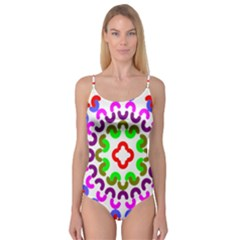 Decoration Red Blue Pink Purple Green Rainbow Camisole Leotard