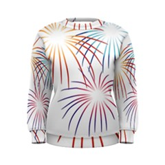 Fireworks Orange Blue Red Pink Purple Women s Sweatshirt