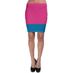 Flag Color Pink Blue Bodycon Skirt