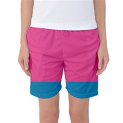 Flag Color Pink Blue Women s Basketball Shorts