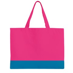 Flag Color Pink Blue Large Tote Bag