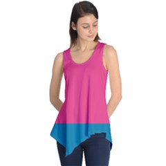 Flag Color Pink Blue Sleeveless Tunic