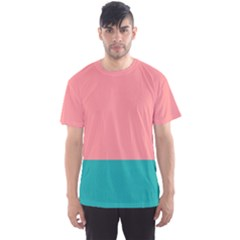 Flag Color Pink Blue Line Men s Sport Mesh Tee