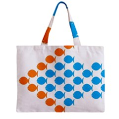 Fish Arrow Orange Blue Mini Tote Bag