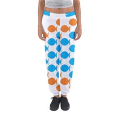 Fish Arrow Orange Blue Women s Jogger Sweatpants