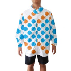 Fish Arrow Orange Blue Wind Breaker (Kids)