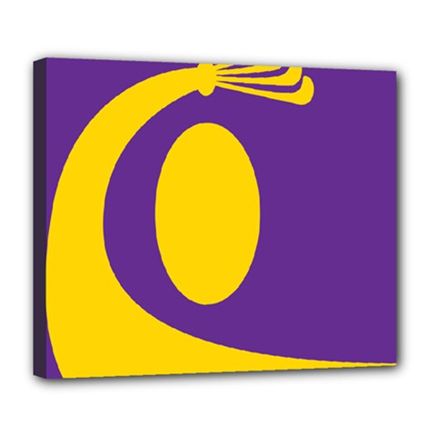 Flag Purple Yellow Circle Deluxe Canvas 24  x 20