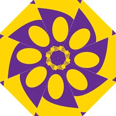 Flag Purple Yellow Circle Hook Handle Umbrellas (Large)
