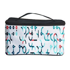 Connect Dots Color Rainbow Blue Red Circle Line Cosmetic Storage Case