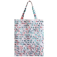Connect Dots Color Rainbow Blue Red Circle Line Zipper Classic Tote Bag
