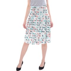 Connect Dots Color Rainbow Blue Red Circle Line Midi Beach Skirt
