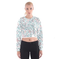 Connect Dots Color Rainbow Blue Red Circle Line Women s Cropped Sweatshirt