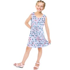 Connect Dots Color Rainbow Blue Red Circle Line Kids  Tunic Dress