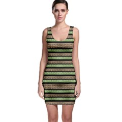 Camo Stripes Print Sleeveless Bodycon Dress