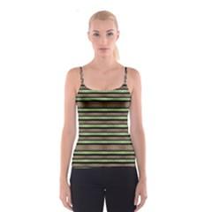 Camo Stripes Print Spaghetti Strap Top