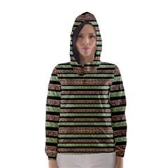 Camo Stripes Print Hooded Wind Breaker (women)
