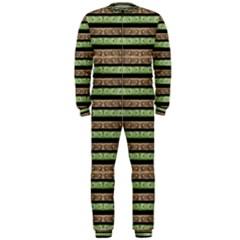 Camo Stripes Print OnePiece Jumpsuit (Men)