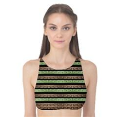 Camo Stripes Print Tank Bikini Top