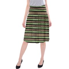 Camo Stripes Print Midi Beach Skirt