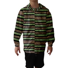 Camo Stripes Print Hooded Wind Breaker (Kids)