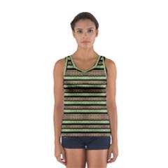 Camo Stripes Print Women s Sport Tank Top