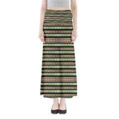 Camo Stripes Print Maxi Skirts