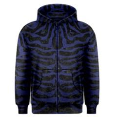 SKN2 BK-MRBL BL-LTHR Men s Zipper Hoodie