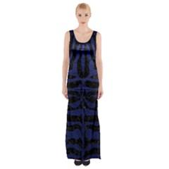 SKN2 BK-MRBL BL-LTHR Maxi Thigh Split Dress