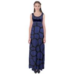 SKN1 BK-MRBL BL-LTHR Empire Waist Maxi Dress
