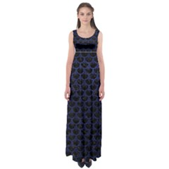 SCA3 BK-MRBL BL-LTHR Empire Waist Maxi Dress