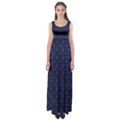 SCA2 BK-MRBL BL-LTHR (R) Empire Waist Maxi Dress