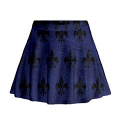 RYL1 BK-MRBL BL-LTHR Mini Flare Skirt