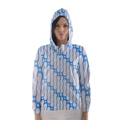 Batik Pattern Hooded Wind Breaker (women)