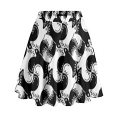 Birds Flock Together High Waist Skirt