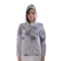 Design Grafis Pattern Hooded Wind Breaker (women)
