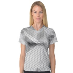 Design Grafis Pattern Women s V-Neck Sport Mesh Tee
