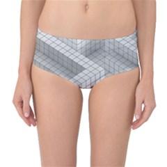 Design Grafis Pattern Mid Waist Bikini Bottoms