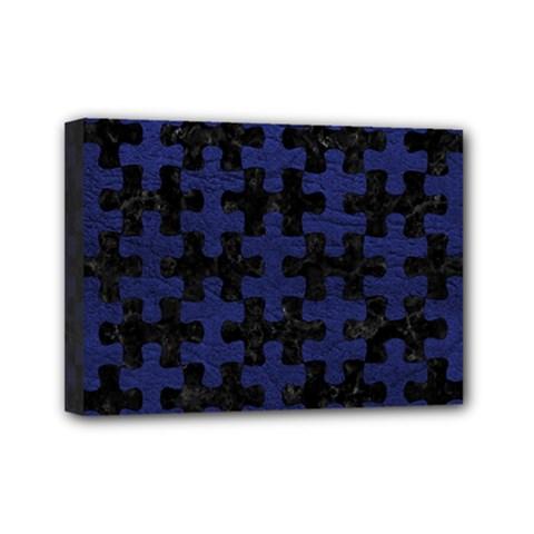 PUZ1 BK-MRBL BL-LTHR Mini Canvas 7  x 5
