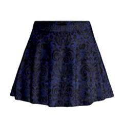 DMS2 BK-MRBL BL-LTHR (R) Mini Flare Skirt