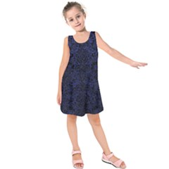DMS2 BK-MRBL BL-LTHR (R) Kids  Sleeveless Dress