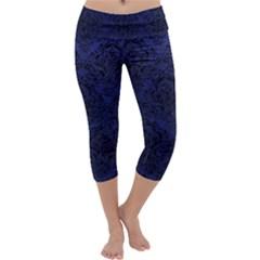 DMS1 BK-MRBL BL-LTHR (R) Capri Yoga Leggings
